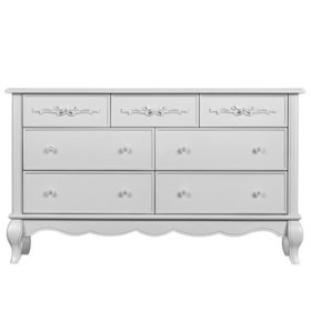 Evolur Aurora 7-Drawer Double Dresser (Choose Your Color)