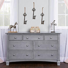 Evolur Cheyenne and Santa Fe Double Dresser, Storm Gray