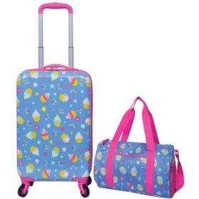 2 Piece Kids Luggage Travel Set