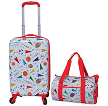2 Piece Kids Luggage Travel Set Sports
