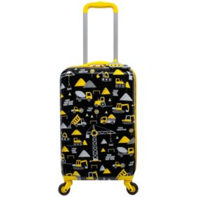 Kids Hardside Luggage with Matching Luggage Tag