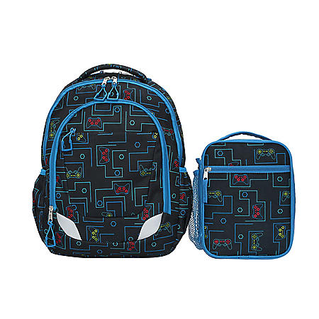 Crckt Youth 2 Piece Backpack set with Matching Lunch Kit (Assorted Colors)
