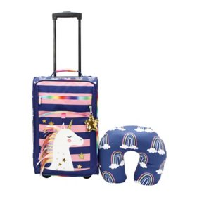 Member's Mark Kids 2-Piece Soft Side Luggage Travel Set (Assorted Designs)
