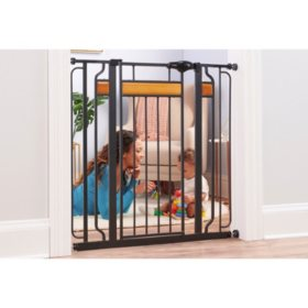 "Regalo Home Accents Extra Tall Designer Baby Gate, Adjustable 29"" -35"""