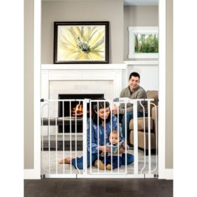 "Regalo Easy Step Extra Wide Baby Gate, Adjustable 29"" -49"" (Choose Your Color)"
