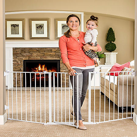 "Regalo Extra Wide Flexi Baby Gate, Fits Openings 28"" -76"""