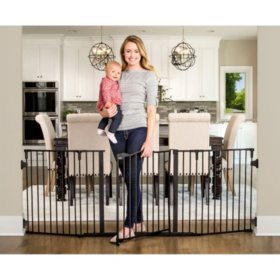 """Regalo Home Accents Widespan Safety Gate, Fits 56"""" up to 74.5"""""""