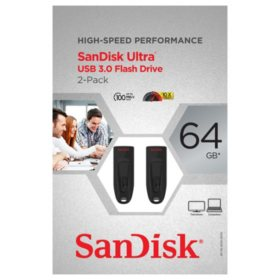 SanDisk Ultra 64GB USB 3.0 Flash Drive (2 pack)