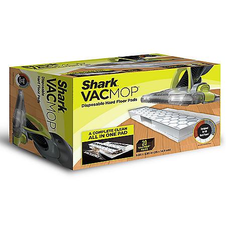 Shark VACMOP Disposable Hard Floor Vacuum and Mop Pad Refills, 20 Ct.