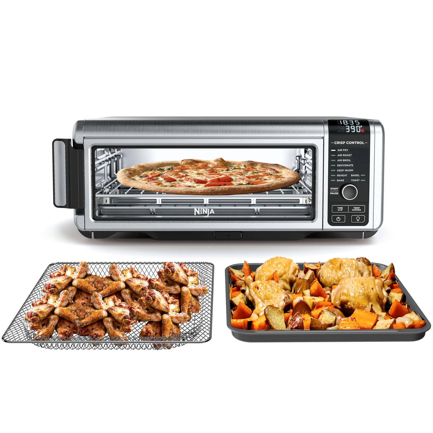 Ninja FT102A Foodi 9-in-1 Digital Air Fry Oven with Convection Oven, Toaster, Air Fryer