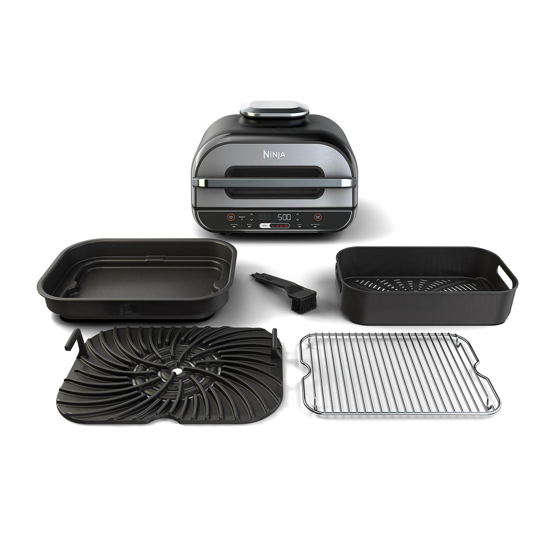 Ninja BG500A Foodi XL 5-in-1 Indoor Grill with 4-Quart Air Fryer, Roast, Bake, Dehydrate