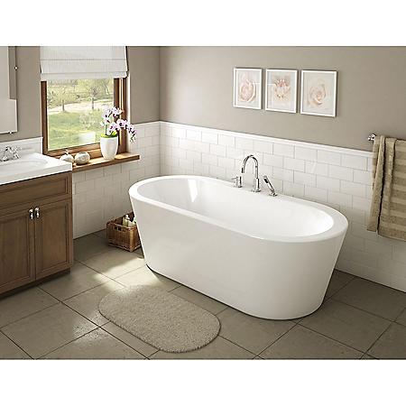 "Nicole 71"" Freestanding Bathtub - No Faucet"