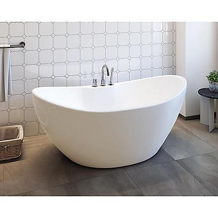 "Gloria 69"" Freestanding Bathtub - No Faucet"