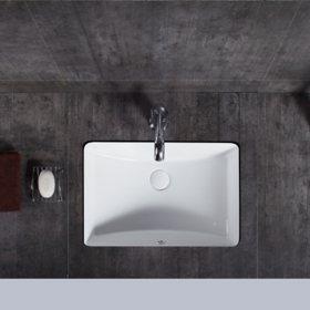 Brooklyn Undermount Ceramic Basin Sink, Glossy White