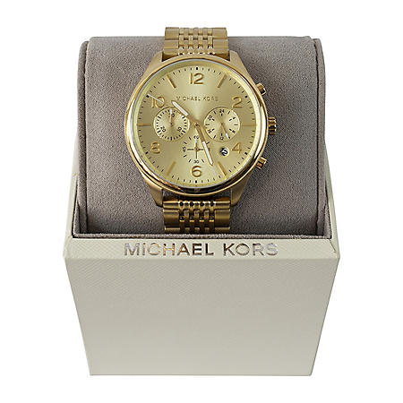 Michael Kors Merrick Chronograph Gold Dial Men's Watch