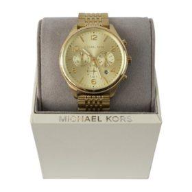 Michael Kors Merrick Chronograph Gold Dial Men's Watch