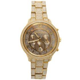Michael Kors Women's Runway Chronograph Gold-Tone Stainless Steel Watch