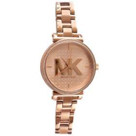 Michael Kors Sofie Quartz Crystal Rose Gold Dial Ladies Watch