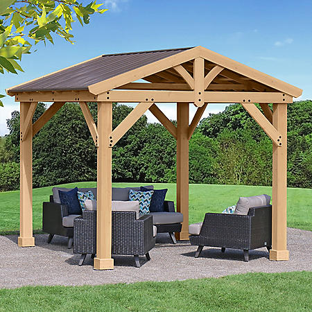 Yardistry 10' x 10' All Cedar Pavilion with Aluminum Roof