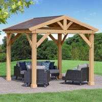 Yardistry 10x10-ft All Cedar Gazebo with Aluminum Roof Deals