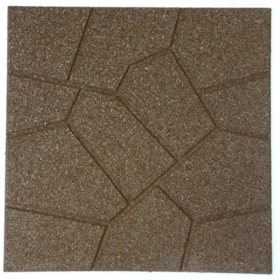"18"" x 18"" Rubber Reversible Brickface Paver - Brown"
