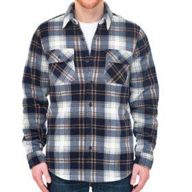 Boston Trader Men's Long Sleeve Bonded Shirt Jacket