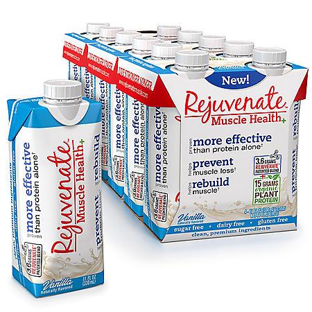 Rejuvenate Ready to Drink with Organic Plant Protein, Vanilla (11 fl. oz., 12 pk.)