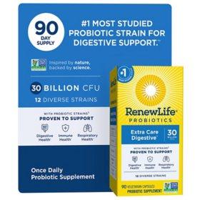 Renew Life Ultimate Flora Probiotic Extra Care, 30 billion (90 vegetable capsules)