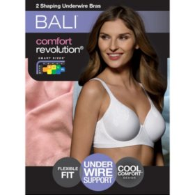 247ca91bef Bali Comfort Revolution Shaping Underwire with Smart Sizes™ Bra (2 Pk.)  Detail