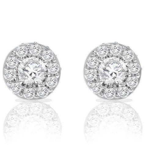 2 CT. T.W. Round Diamond Earrings (I, I1)
