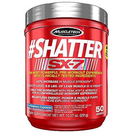 MuscleTech #Shatter SX-7 Blue Raspberry Explosion