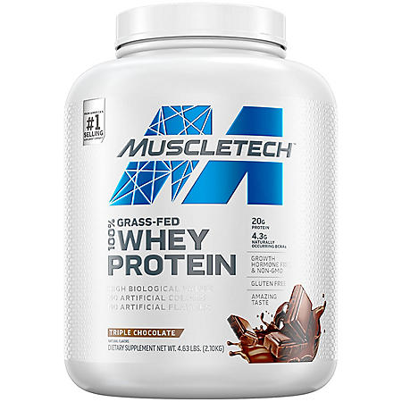 MuscleTech Grass Fed 100% Whey Protein, Chocolate
