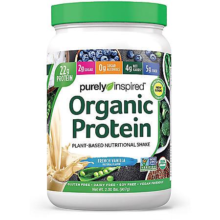 Purely Inspired Organic Protein Powder 100% Plant-Based ,Vanilla