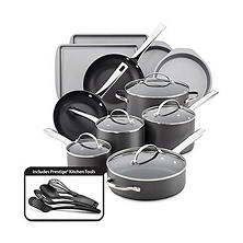 Farberware 20-piece Hard-Anodized Cookware Set