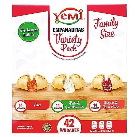Yemi Empanaditas Variety Pack, Frozen (42 ct.)