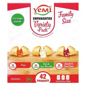 Yemi Empanaditas Variety Pack, Frozen (42 ct.)