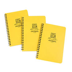Rite in the Rain All-Weather Side Spiral Notebook, Yellow, 3pk.