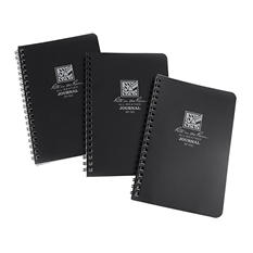 Rite in the Rain All-Weather Side Spiral Notebook, Black, 3pk.