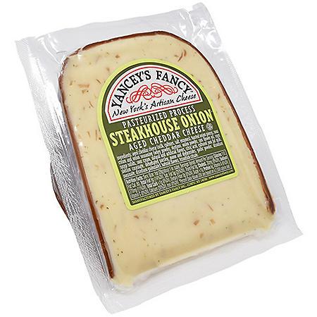 Yancey's Fancy Aged Cheddar Cheese, Steakhouse Onion (16 oz