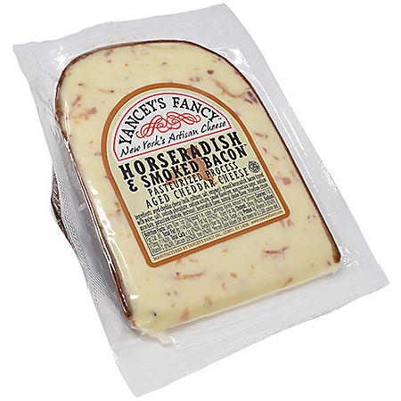 Yancey's Fancy Aged Cheddar Cheese, Horseradish and Smoked Bacon (16 oz.)
