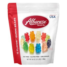 Albanese 12 Flavor Gummi Bear Share Bag (56oz.)