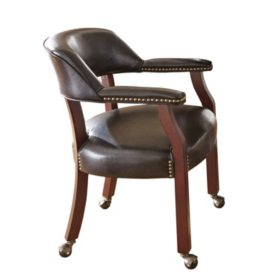Talley Captain's Chair with Casters (Assorted Colors)