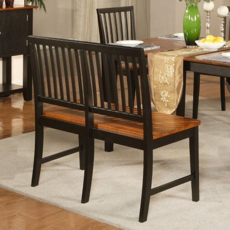 Ava Cherry and Black Counter Bench
