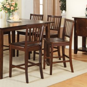 Ava Counter Height Dining Chairs Espresso 2 Pk Sam S Club