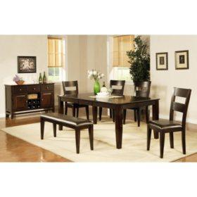 Prime Weston Dining Bench Espresso Sams Club Beatyapartments Chair Design Images Beatyapartmentscom