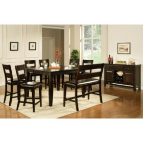Super Weston Counter Height Dining Bench Espresso Sams Club Beatyapartments Chair Design Images Beatyapartmentscom
