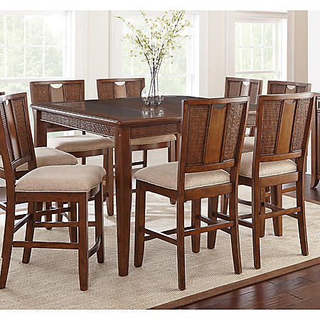 Awesome Maria Counter Height 9 Piece Dining Set Download Free Architecture Designs Scobabritishbridgeorg
