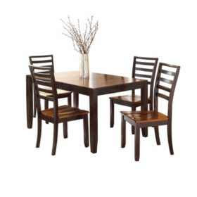 Pierson Extendable Table and Side Chairs, 5-Piece Dining Set