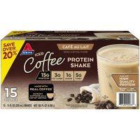 Atkins Gluten Free Protein-Rich Shake, Café Au Lait, Keto Friendly (15 pk.)