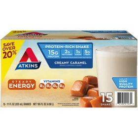 Atkins Gluten Free Protein-Rich Shake, Creamy Caramel, Keto Friendly (15 pk.)